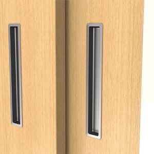 Asas empotradas para puertas correderas