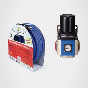 Conexiones, mangueras y filtros para compresor de aire