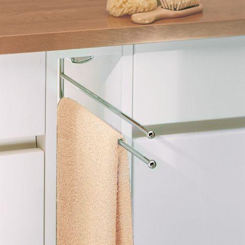 VIVIANA - Toallero extensible de 2 barras oculto en el mueble