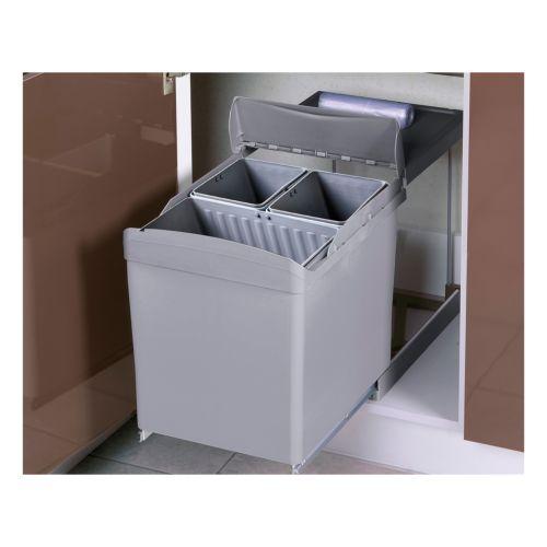 ALDO - Contenedor de 2 ó 3 compartimentos con apertura automática de la tapa