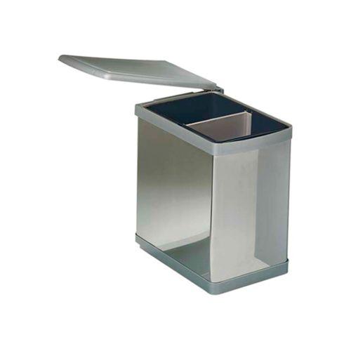 Cubo de basura pivotante de 1 compartimiento y divisor central extraible