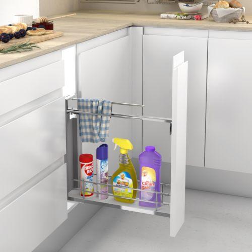 Línea COMPACT MÍNIM - Módulos bajo estrecho para paños y productos de limpieza con base Blanca