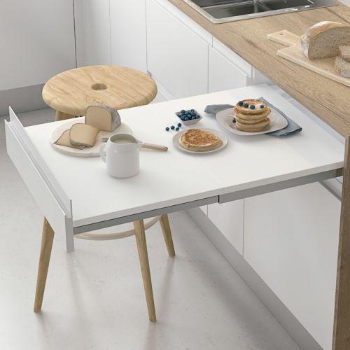NEW SERENA - Guías para mesa extraíble en 2 piezas de frontal fijo