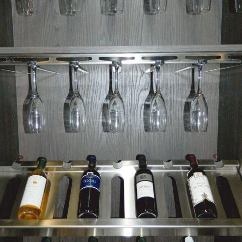 ÉLITE Soporte para copas para el interior del armario