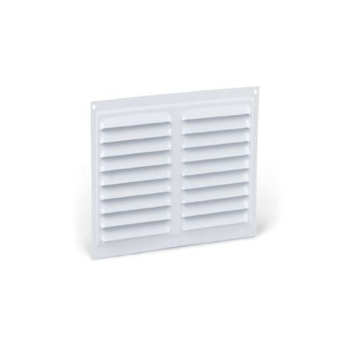 Rejilla ventilación de fijación tornillos con red anti-insectos cuadrada