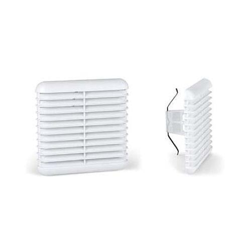 Rejilla de ventilación Cuadrada de fijación por presión con red anti-insectos