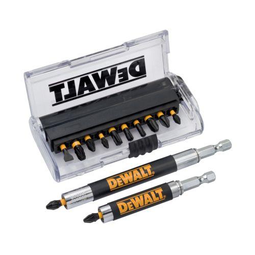 Estuche de 14 piezas para atornillar con adaptador DEWALT DT70512T