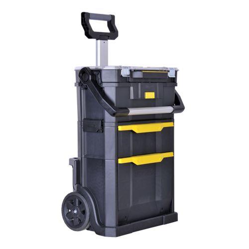 STANLEY - Taller móvil modular + Caja de herramientas - 2 en 1