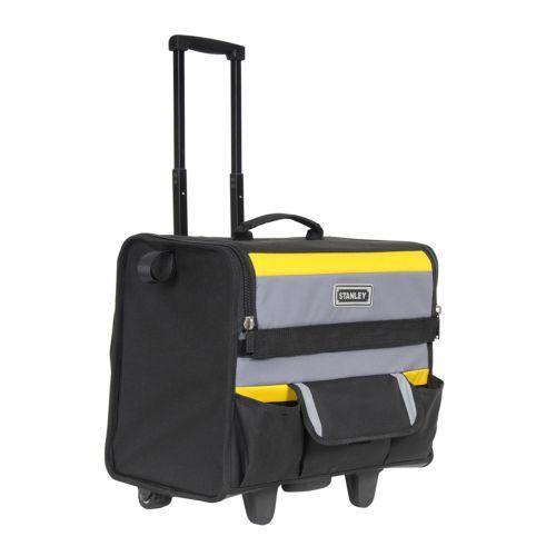 STANLEY - Bolsa organizadora de herramientas rígida con ruedas