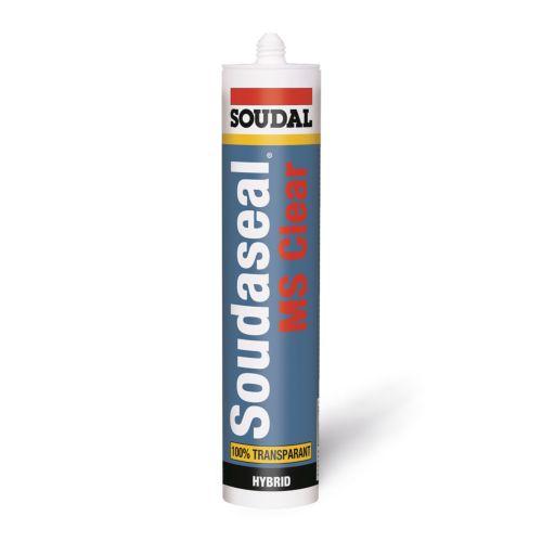 Soudalseal MS CLEAR - Adhesivo de montaje especial vidrio