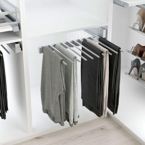 Pantalonero para 10 pantalones fijación lateral extraíble