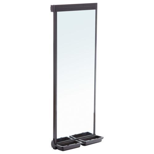 Serie Moka - Espejo extraíble amortiguado giratorio con compartimentos