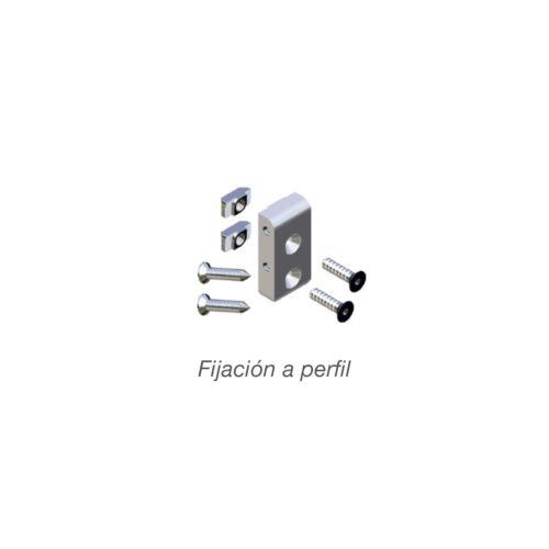 Kit fijación soporte para barra de armario AIRPERFIL