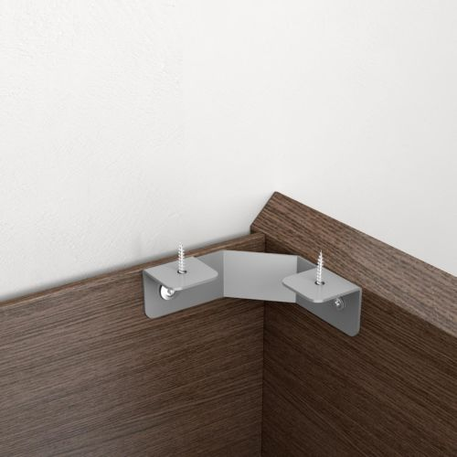 Soporte esquina para estante de ángulo (semiflexible)