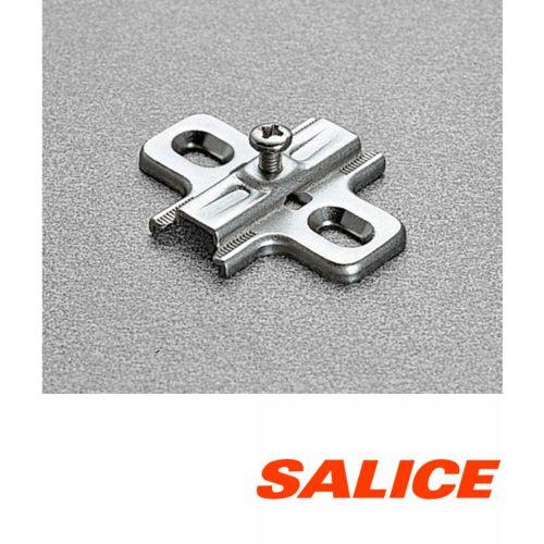 Base tradicional regulación vertical para bisagras Salice Serie 200