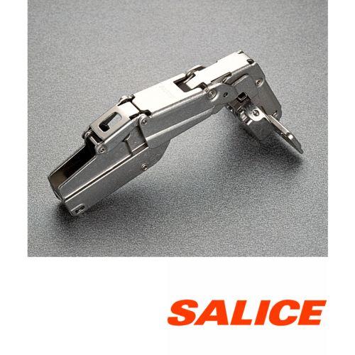 Bisagra superacodada decelerante SALICE serie 200 de Ø35 mm. Apertura 155º Silentia Plus