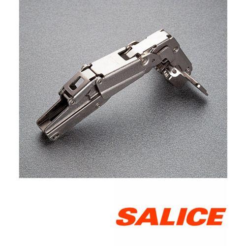 Bisagras Recta Push SALICE serie 200 de Ø35 mm Apertura 155º Con puerta enrasada a costado y Profundidad 8 mm.