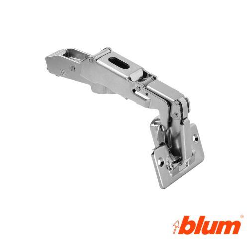 Bisagra recta Blum Clip Top Ø35 mm. Apertura 170º para puertas de gran ángulo. Cierre estándar.