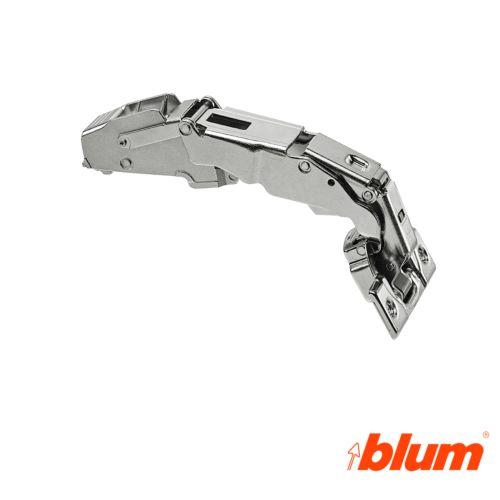 Bisagra acodada Blum Clip Top Ø35 mm. a 155º para despenseros y montajes específicos. Cierre decelerante BLUMOTION.
