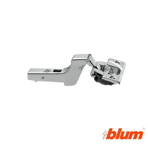 Bisagra superacodada Blum Clip Top Ø35 mm. Apertura 110º para costados de 16 mm. Cierre decelerante BLUMOTION.