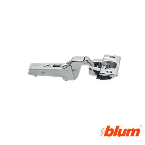 Bisagra acodada Blum Clip Top Ø35 mm. Apertura 95º para molduras y grandes espesores. Cierre decelerante BLUMOTION