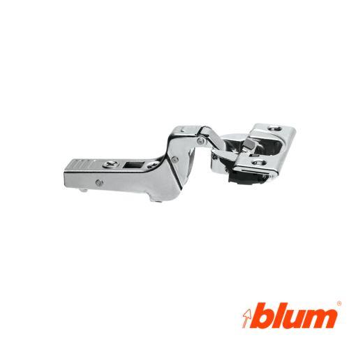 Bisagra superacodada Blum Clip Top Ø35 mm. Apertura 95º para molduras y grandes espesores. Cierre decelerante BLUMOTION