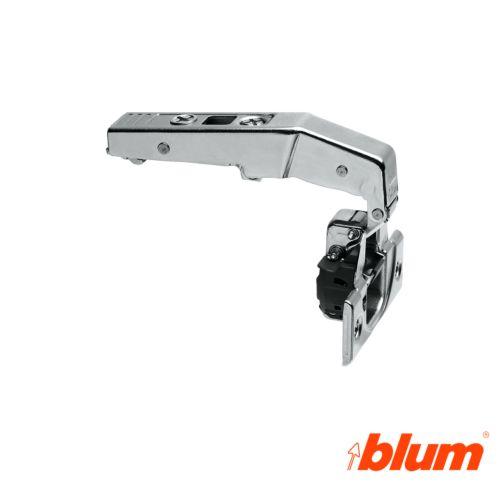 Bisagra recta de blum ø35mm. contracodo para rincones falsos. Apertura por expulsión TIP-ON.
