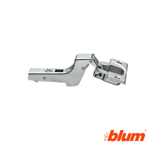 Bisagra superacodada Blum Clip Top Ø35 mm. Apertura a 110º para costados de 16 mm. Sistema Expulsión Tip-On.