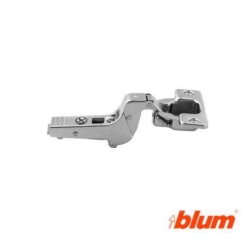Bisagra superacodada Blum Clip Top Ø35 mm. a 95º para grandes espesores y molduras.  Apertura por expulsión TIP-ON.