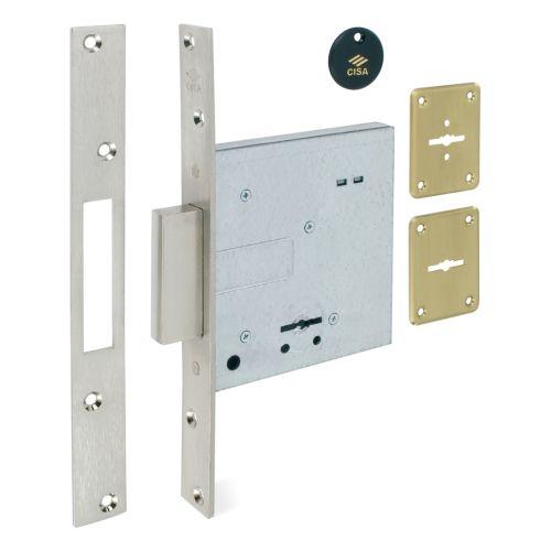 Cerraduras CISA Embutidas Gorjas doble Pala Modelo 57010 Solo llave