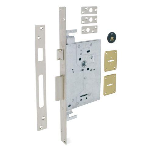 Cerraduras CISA Embutidas Gorjas Doble Pala Modelo 57255 Golpe y llave para varillas