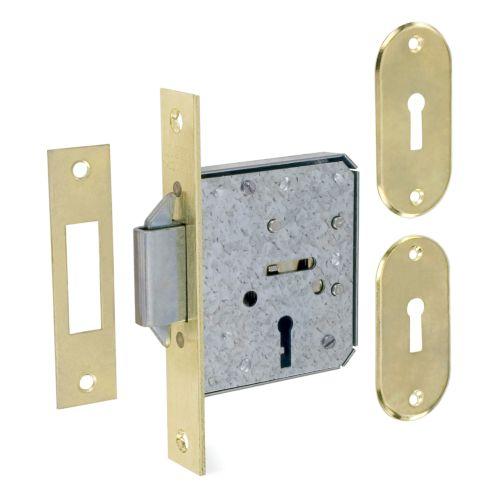 Cerraduras Embutidas para Puertas Correderas MCM 1515-2 de 4 gorjas macho de cierre 2 bulones