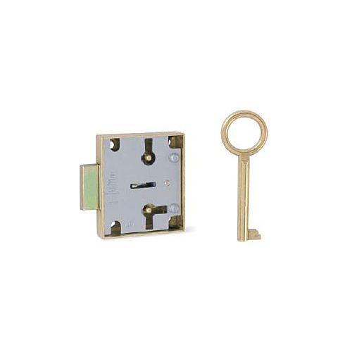 Cerradura para cajón o puerta llave gorjas Sobrepuesta