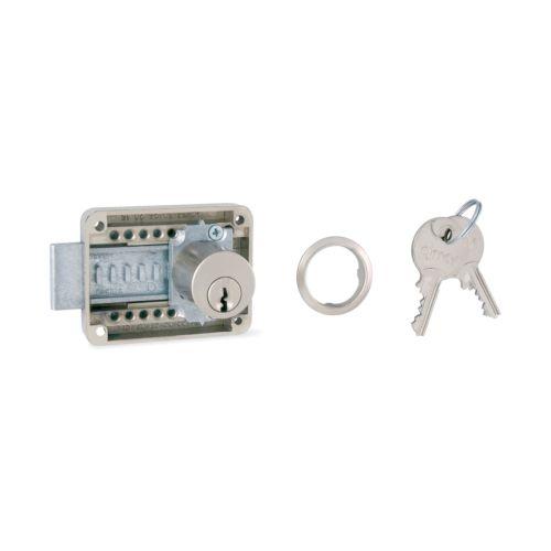 Cerradura sobrepuesta OJMAR para puerta y cajón de aguja variable