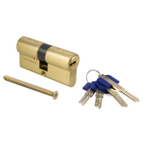 Cilindro TESA TX80 - Bombillo de 10 pitones con llave de puntos INCOPIABLE de GIRO LIMITADO