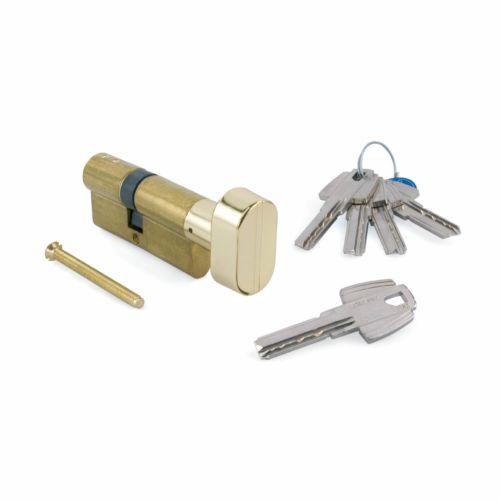 Cilindro TESA T60 - Bombillo de 6 pitones con botón muletilla de llave de puntos