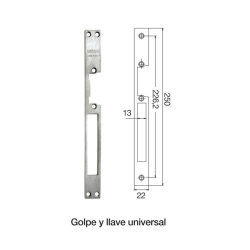 Placas Golpe y Llave universal para los cierres Eléctricos