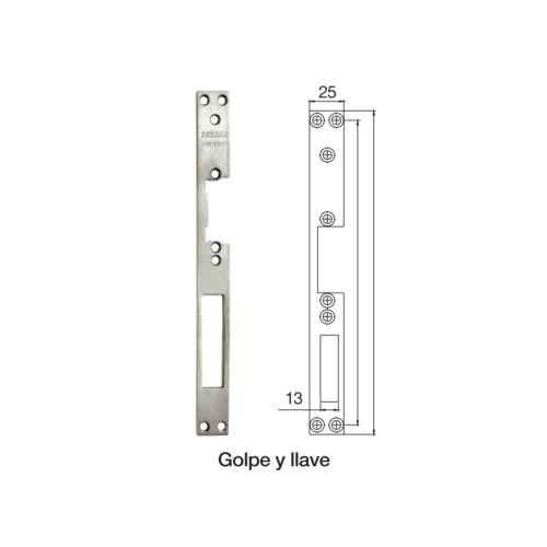 Placas Golpe y Llave para cierres eléctricos