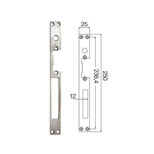 Placas golpe y llave con desbloqueo para cierres eléctricos