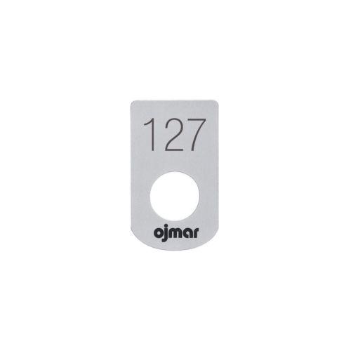 Placas adhesivas numeradas para las cerraduras monedero de taquilla o de cadena