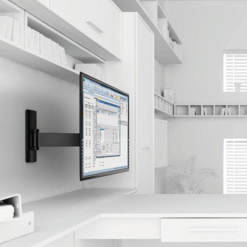 """DONALD - Soporte giratorio inclinable de 1 brazo para pantallas planas de 17"""" a 26"""""""