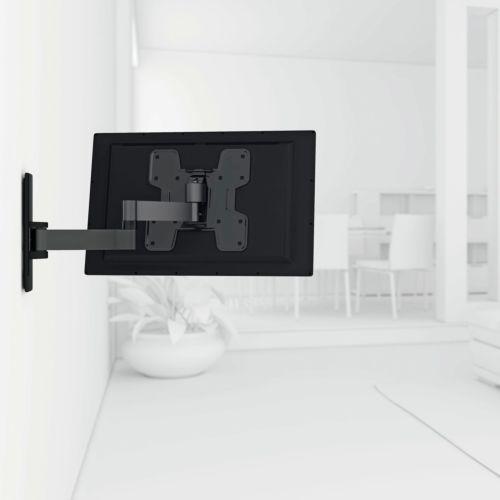 """DORIAN - Soporte articulado inclinable de 2 brazos para pantallas planas de 19"""" a 40"""""""