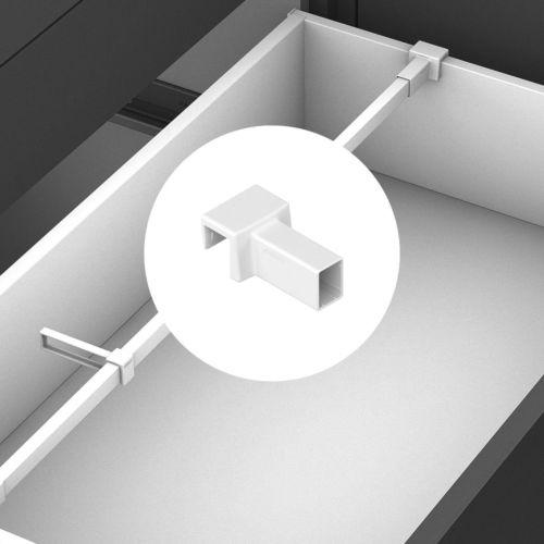 Soportes para barra separadora transversal cajones Legrabox
