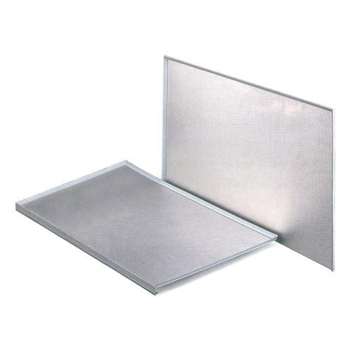 Protector de aluminio con goma de ajuste para fondos de fregadero