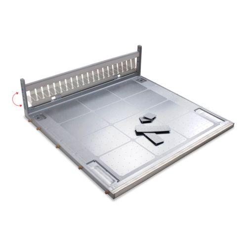 Protector con refuerzo y trasera móvil para fondo de fregadero