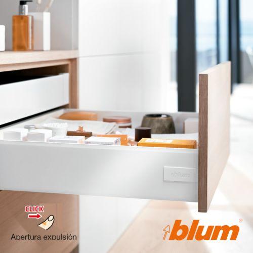 Kit completo cajón BLUM Tandembox Antaro con apertura por expulsión TIP-ON y cierre decelerante BLUMOTION - Perfil K=115,6 mm. - Máx. 30 Kg.