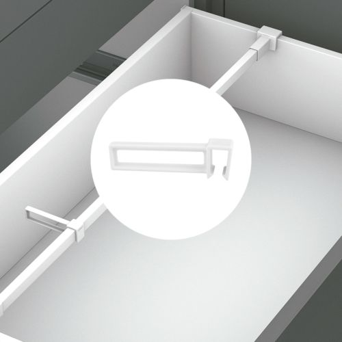 Divisor longitudinal para barra separadora transversal Ambialine de cajones Blum Legrabox