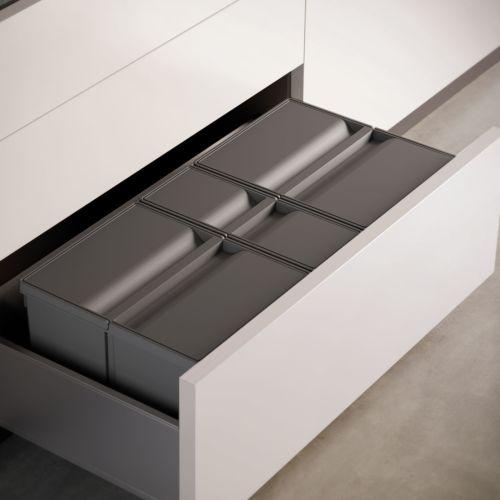 Cubos de basura de 2, 3 ó 4 compartimentos 9XL