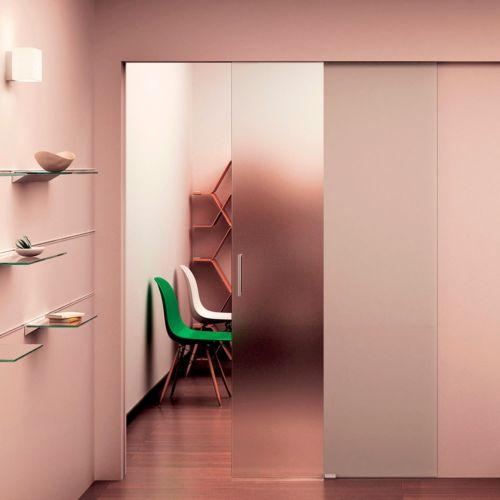 POCKET GLASS 150 - Perfil visto y oculto para puertas de vidrio hasta 150 Kg.