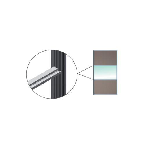 Kit perfiles japonés H, Puertas revestidas de aluminio o  de madera